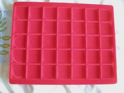 With Upto Velour Coin For Red 39mm Compartments Lindner Tray 35 clFK1J