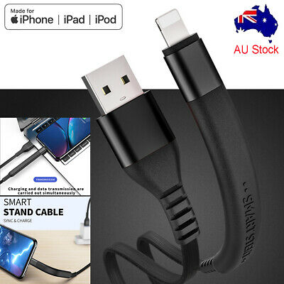 4ft Smart Stand Lightning USB Cable 2.1A Fast Charging Data Cord for iPhone iPad