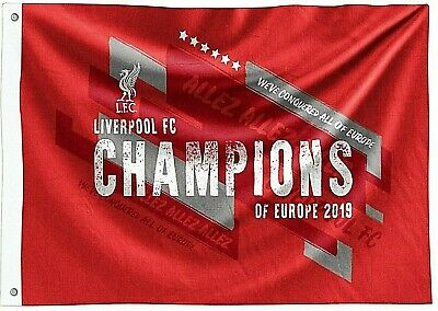Liverpool Fc Official 2019 Large Uefa European Champions Football Mast Flag Lfc