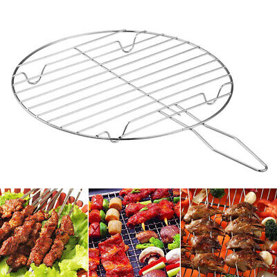 Round BBQ Barbecue Grill Stainless Steel Mesh Wire Net Outdoor Cooking Tool