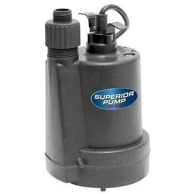 Submersible Thermoplastic Utility Pump 1/4 HP Backyard Garden Hose Adapter 1 Pc