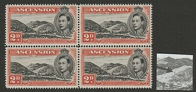 Ascension 1938-53 George VI 2d with 'Mountaineer' flaw R 4/4 SG 41ba Mnh.