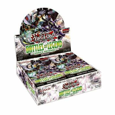 Yu-Gi-Oh Battles of Legend: Hero's Revenge Sealed Booster Box of 24 Packs : TCG