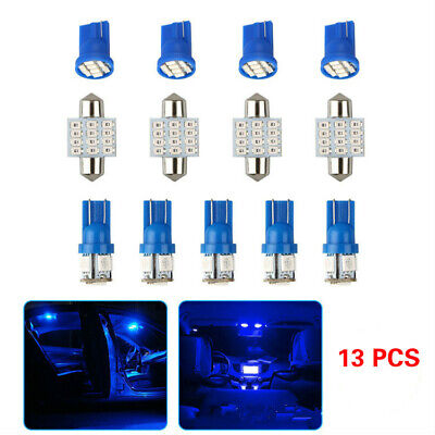 13 PCS Car Interior LED Lights For Dome License Plate Lamp 12V Kit Accessories