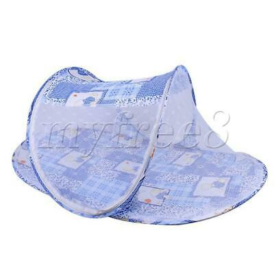 Newborn Thin Summer Mosquito Net Portable Folding Crib blue