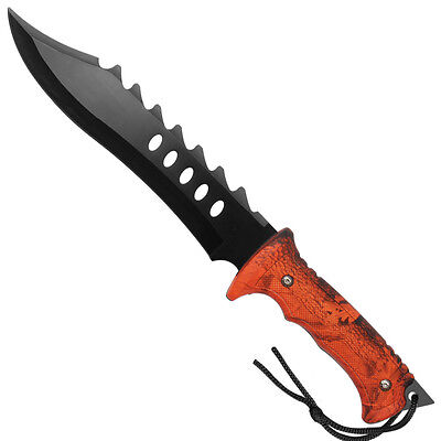 Outdoor Blazing Trails Camo Hunting Fixed Blade Wilderness Knife