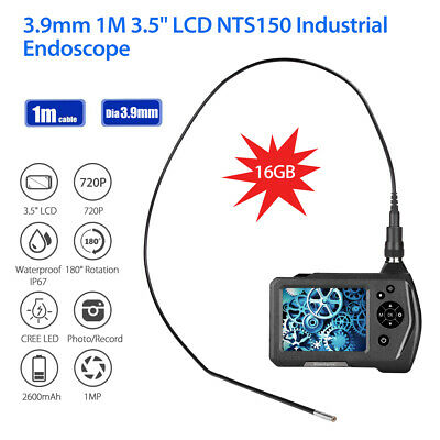 NTS150 1M Cable 3.9mm 1MP 3.5Inch IP67 180°Rotation 6LEDs Industrial Borescope