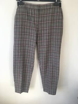 d8c978c017 Primark / Atmosphere Grey And Pink Checked Formal Crop Trousers Size 10
