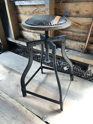 Industrial  Machinists Stool With Designer Seat