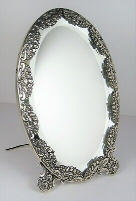 Mirror table antique solid silver very beautiful – 19th century