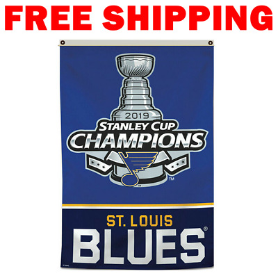 St.Louis Blues 2019 Stanley Cup Champions 3X5FT Vertical Banner Flag Man Cave