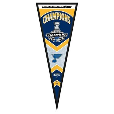 St. Louis Blues 2019 Stanley Cup Champions 33'' x 13'' Pennant Frame