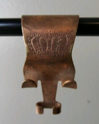 Antique Original Picture Molding Rail Hook Copper Victorian Painting Hanger Crow