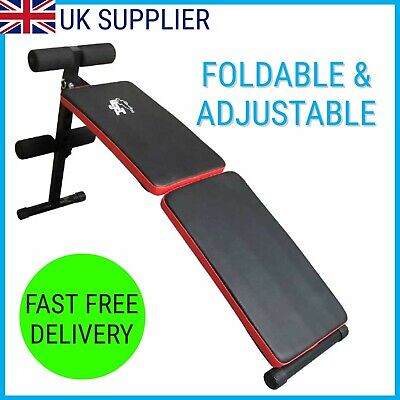 Fit4Home Sit Up Bench Folding Adjustable Decline Home Gym Fitness Exercise