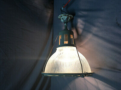 Vintage Cage Industrial Holophane Ceiling Light Fixture Factory Work 361-19L