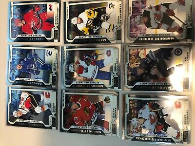 Lot of 9 2018-19 OPC Platinum Marquee Rookies Cards #3 Pettersson Svechnikov RC