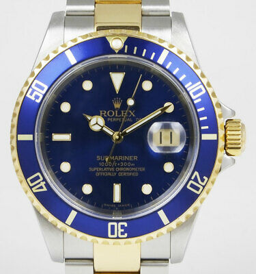 Rolex Oyster Perpetual Submariner 16613 18K/SS - Blue Dial/Bezel (2005)