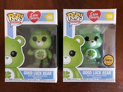 Funko Pop! Animation Good Luck Bear Chase And Common Care Bears #355