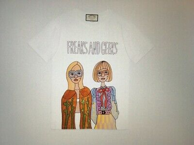 GUCCI X Angela Hicks LTD ED 100 T-Shirt FREAKS AND GEEKS Sz L + Collector Tin