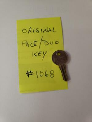 Original Pace Duo Key #F1068 For An Antique Slot Machine Key For Lock #F1068