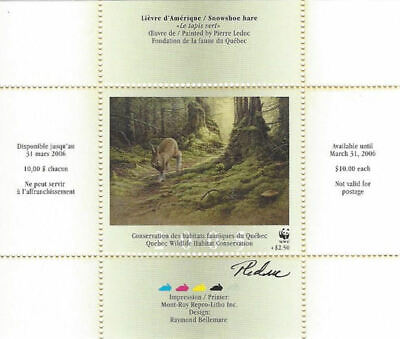 2005  Canada Quebec  Wildlife Habitat Conservation  -DQ48s WWF signed  Mint NH