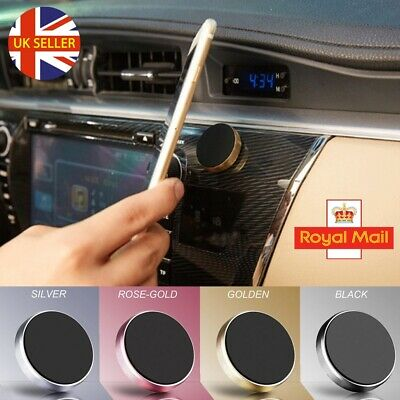 In Car Magnetic 360° Phone Holder Fits Dashboard Universal Mount Various Colours