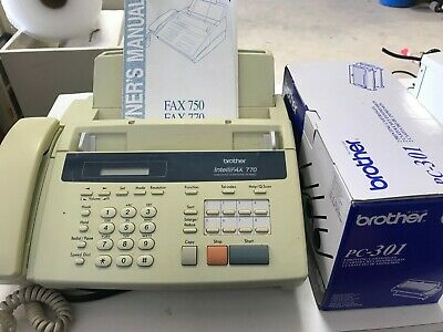 Brother Intellifax 770 Home/Office Plain Paper Facsimile fax machine W/2 CARTRID