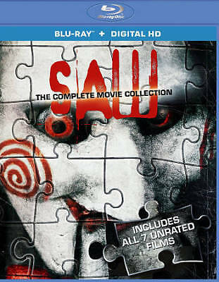 Saw: The Complete Movie Collection (Blu-ray Disc, 2014, 3-Disc Set) LIKE NEW