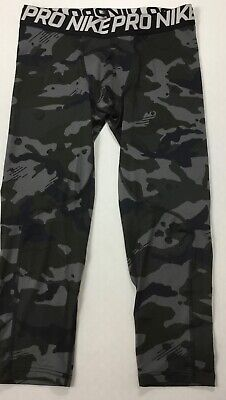 b2ae4dd3ba692 NIKE MEN'S PRO Camo 3/4 Length Tight Black 010 AQ1197 Size M ...