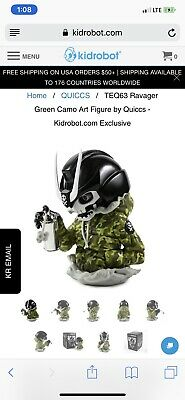 Ravager Green Camo Quiccs KidRobot Exclusive LE 100 Brand New *CONFIRMED*