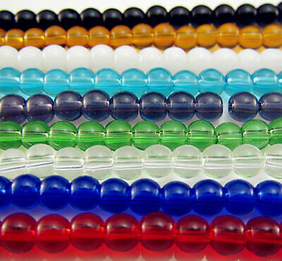 TOP charms Loose findings 4mm beads Free 200PCS Glass color Round Spacer Mixed