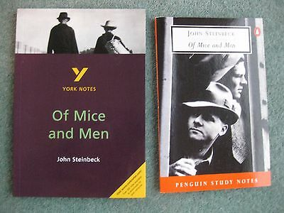 Bundle x 2 John Steinbeck 'Of Mice and Men' Penguin & York Study Notes