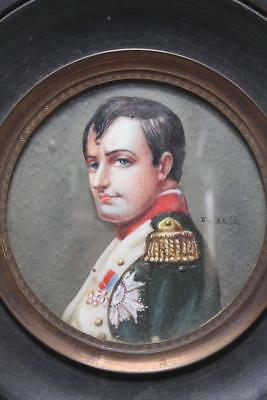 Miniature Portrait Painting of Napoleon.