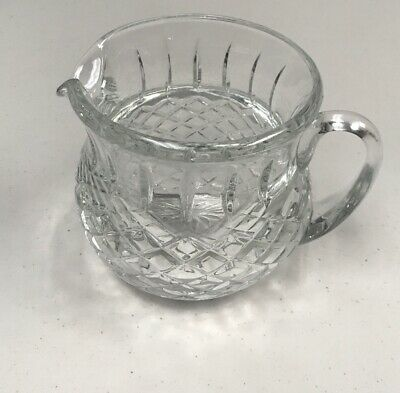 Vintage Heavy Leaded Cut Glass Crystal Pitcher, Water or Juice