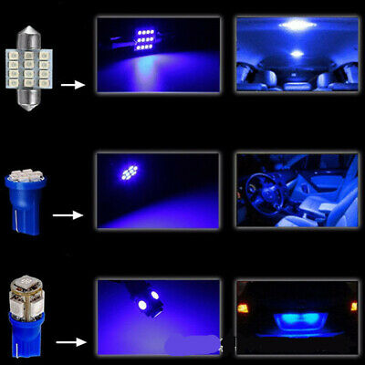 LED Car Interior Lights For Dome License Plate Lamp 12V Kit Accessories 13 PCS
