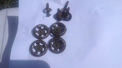 Set of 4 Antique Victorian Drawer Pulls (brass) (uncleaned)