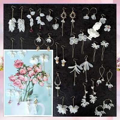 Leaves Women Earring Eardrop Pendant Silver 925 Studs Jewelry Dangle Acrylic
