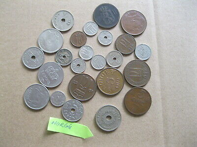 Vintage Lot Of Misc Norway Krone Norge Coins
