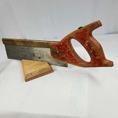 "REDUCED BRASS BACK Tenon-Dovetail-Saw-10"" Long 14 tpi. MAKER; SPEAR & JACKSON"