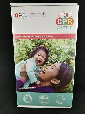 NEW American Heart Association Infant CPR Anytime DVD Training Kit Baby Manikin