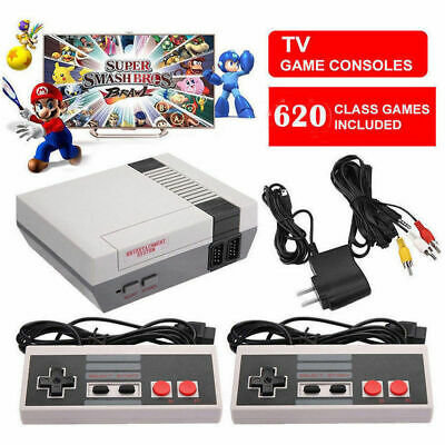 620 Games in 1 Classic Mini Game Console for NES Retro TV AV w/ Two Gamepads US
