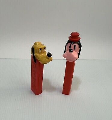 Pez dispensers Vintage Pluto X2 Rare Disney Austria  Older Pluto No Teeth