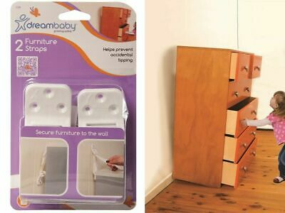2 Pack Dreambaby Child Safety Furniture Wall Safety Strap F199