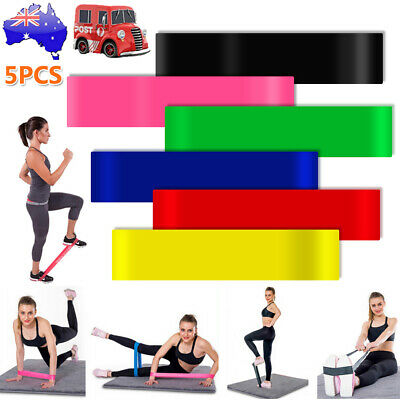 6 SET Heavy Duty POWER YOGA RESISTANCE BANDS LOOP Fitness Gym Exercise Workout