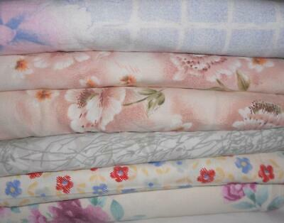 x 6 Assorted VINTAGE Single Bed SHEETS Cutters *Craft*Use