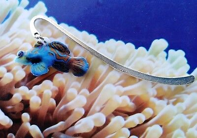 Metal Bookmark of Madarin fish For Fish lovers Gift Idea