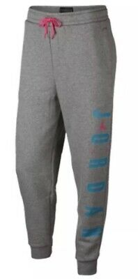 de58d144cb4 Nike Mens XXL Jordan Air Jumpman Tech Fleece Sweat Pants Jogger Grey Miami  Pink