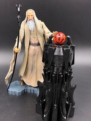 """Lord of the Rings SARUMAN THE WHITE ToyBiz 6"""" Scale Figure 100% Complete Hobbit"""