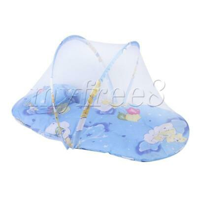Newborn Thin Summer Mosquito Net Portable Folding Crib small blue