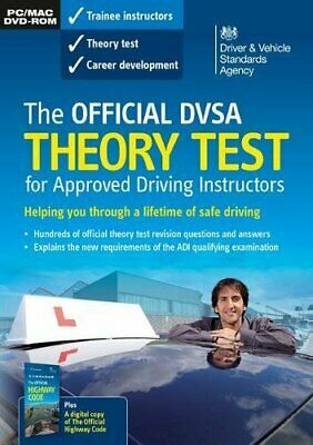 The official DVSA theory test for approved driving instructors  New DVD-ROM Book